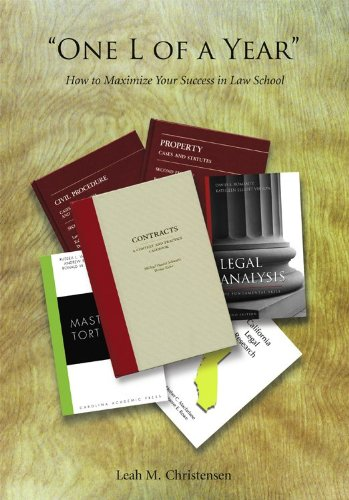 ''One l of a Year'' How to Maximize Your Success in Law School  2012 edition cover