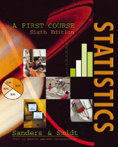 Statistics A First Course 6th 2000 edition cover