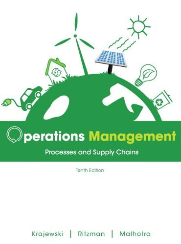 Operations Management Processes and Supply Chains 10th 2013 edition cover