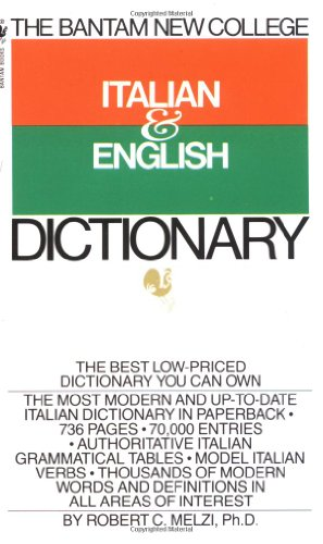 Bantam New College Italian and English Dictionary   1976 9780553279474 Front Cover