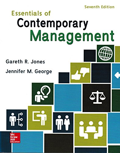 Essentials of Contemporary Management:  7th 2016 9781259545474 Front Cover