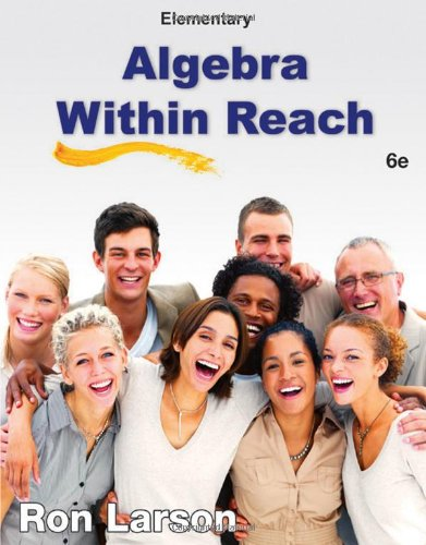 Elementary Algebra: Algebra Within Reach  2013 edition cover