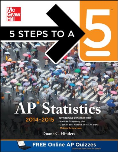5 Steps to a 5 AP Statistics 2014-2015  5th 2013 9780071802475 Front Cover