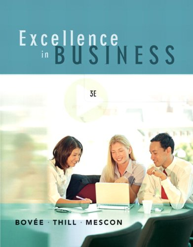 Excellence in Business  3rd 2007 (Revised) edition cover