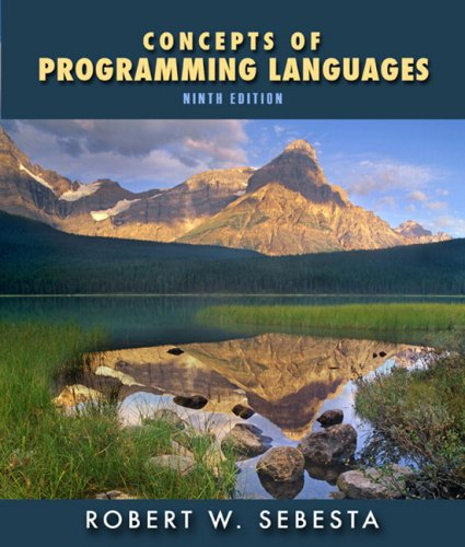 Concepts of Programming Languages  9th 2010 edition cover