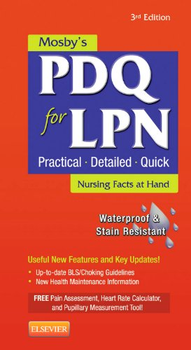 Mosby's PDQ for LPN  3rd 2012 edition cover