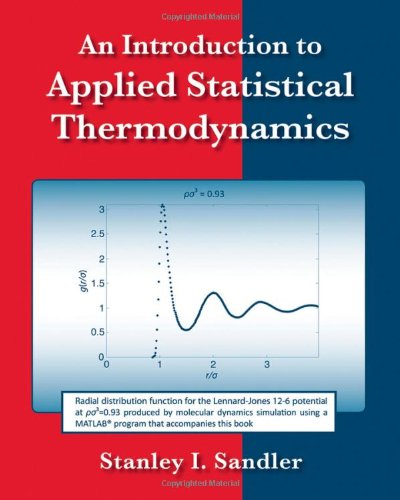 Introduction to Applied Statistical Thermodynamics   2011 edition cover