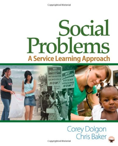 Social Problems A Service Learning Approach  2011 edition cover