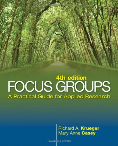 Focus Groups A Practical Guide for Applied Research 4th 2009 edition cover