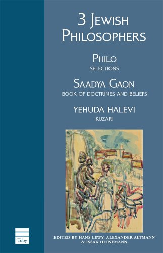 3 Jewish Philosophers  3rd 2006 edition cover