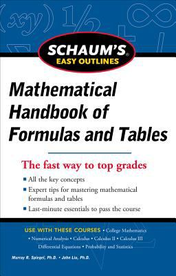 Schaum's Easy Outline of Mathematical Handbook of Formulas and Tables, Revised Edition   2012 edition cover