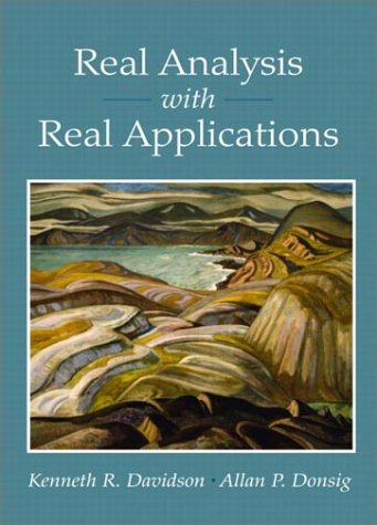 Real Analysis with Real Applications   2002 9780130416476 Front Cover