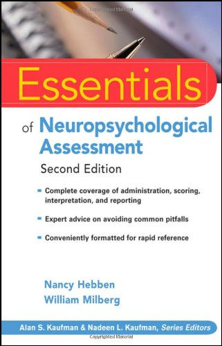 Neuropsychological Assessment  2nd 2009 edition cover