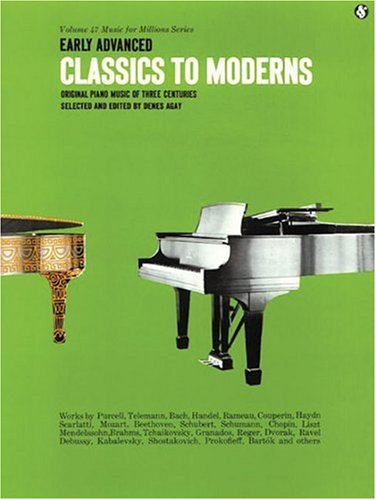 Early Advanced Classics to Moderns  N/A edition cover