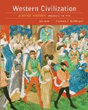 Western Civilization: A Brief History; to 1715  2016 edition cover