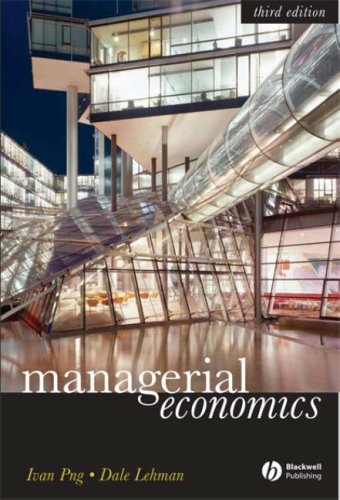Study Guide to Accompany Managerial Economics  3rd 2007 (Revised) edition cover
