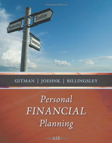 Personal Financial Planning  12th 2011 edition cover