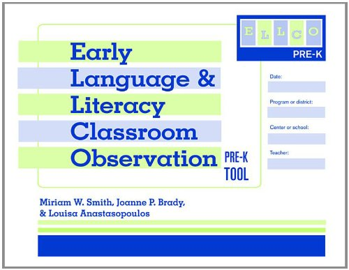 Early Language and Literacy Classroom Observation Tool, Pre-K (ELLCO Pre-K)  N/A edition cover