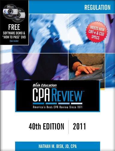 Bisk CPA Review Regulation 40th 2010 edition cover