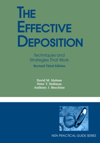 Effective Deposition 3rd 2007 (Revised) edition cover