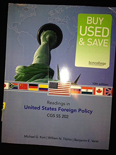 Readings in U.S. Foreign Policy 10th edition cover