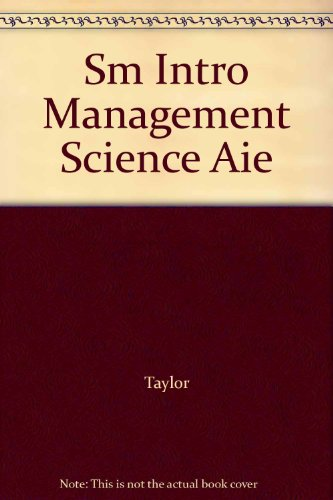 "INTRO.TO MGMT.SCI-W/AB:QM 3""DS N/A 9780132093477 Front Cover"