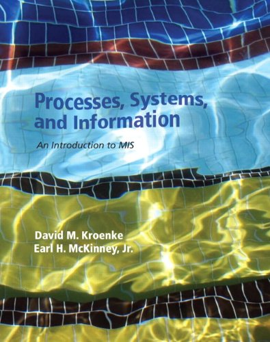 Processes, Systems, and Information An Introduction to MIS  2013 edition cover