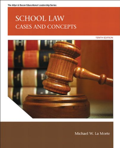 School Law Cases and Concepts 10th 2012 (Revised) edition cover