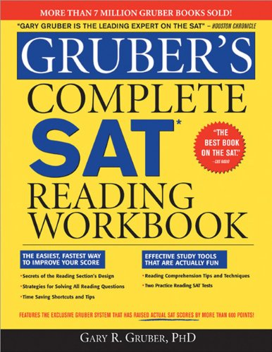 Gruber's Complete SAT Reading Workbook   2009 (Workbook) 9781402218477 Front Cover