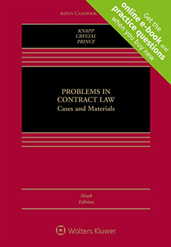 Problems in Contract Law: Cases and Materials  2019 9781543801477 Front Cover