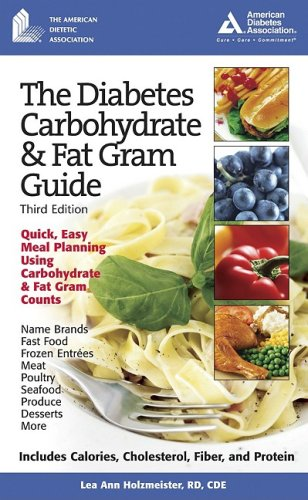 Diabetes Carbohydrate and Fat Gram Guide  3rd 2006 edition cover