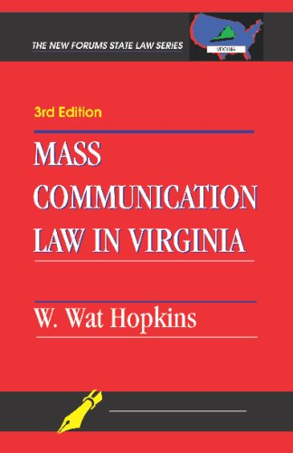Mass Communication Law in Virginia  3rd edition cover