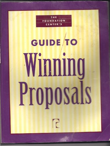 Foundation Center's Guide to Winning Proposals 1st 2003 edition cover