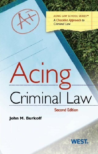 Acing Criminal Law  2nd 2013 (Revised) edition cover