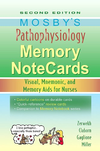 Mosby's Pathophysiology Memory NoteCards Visual, Mnemonic, and Memory Aids for Nurses 2nd edition cover