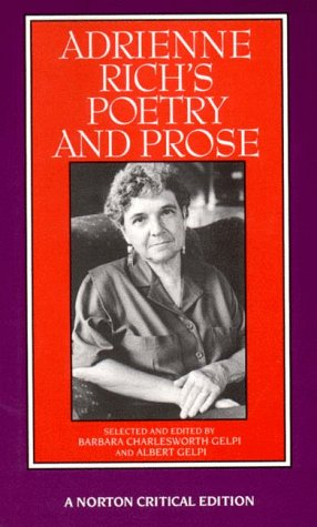 Adrienne Rich's Poetry and Prose  2nd 1993 edition cover