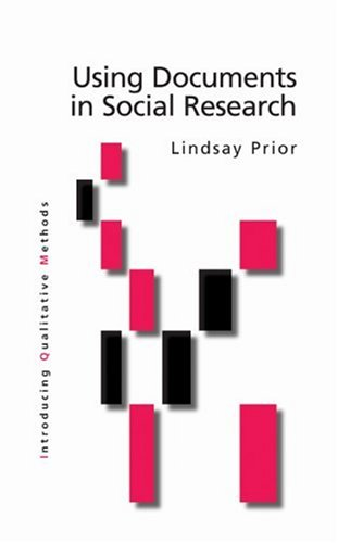 Using Documents in Social Research   2003 edition cover