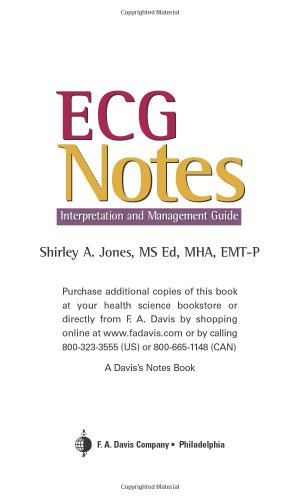 ECG Notes Interpretation and Management Guide  2005 edition cover