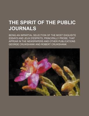 Spirit of the Public Journals  N/A 9781150505478 Front Cover