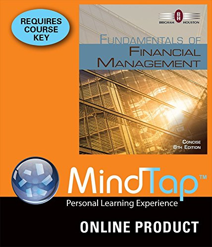 MindTap? Finance Printed Access Card for Brigham/Houston's Fundamentals of Financial Management, Concise Edition, 8th  8th 9781285779478 Front Cover