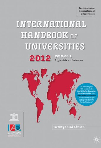 International Handbook of Universities  23rd 2011 (Revised) 9780230223479 Front Cover