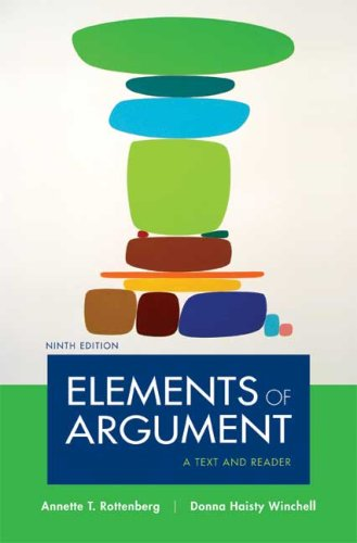 Elements of Argument A Text and Reader 9th 2009 edition cover