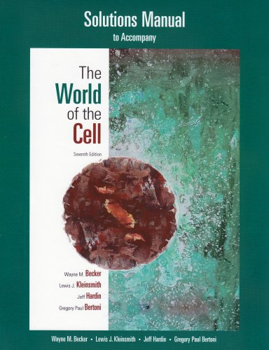 Student Solutions Manual for the World of the Cell  7th 2009 edition cover