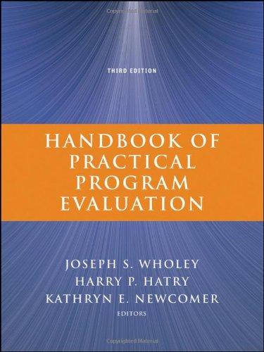 Handbook of Practical Program Evaluation  3rd 2010 (Handbook (Instructor's)) edition cover