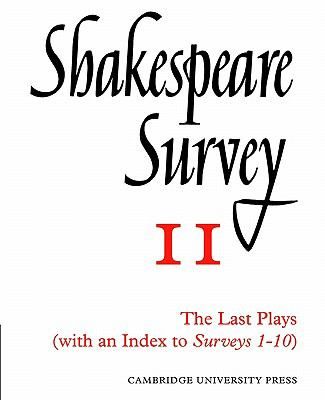Last Plays With an Index to Survey 1-10  2002 9780521523479 Front Cover