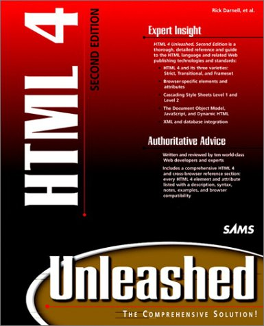 HTML 4 Unleashed  2nd 1998 9780672313479 Front Cover