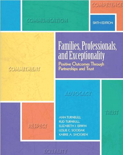 Families, Professionals, and Exceptionality Positive Outcomes Through Partnerships and Trust 6th 2011 edition cover