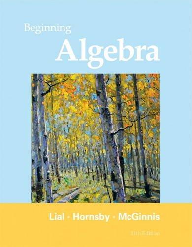 Beginning Algebra  11th 2012 (Revised) edition cover