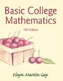 Basic College Mathematics Plus NEW MyMathLab with Pearson EText -- Access Card Package  5th 2015 edition cover