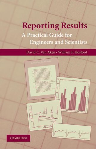 Reporting Results A Practical Guide for Engineers and Scientists  2008 9780521723480 Front Cover